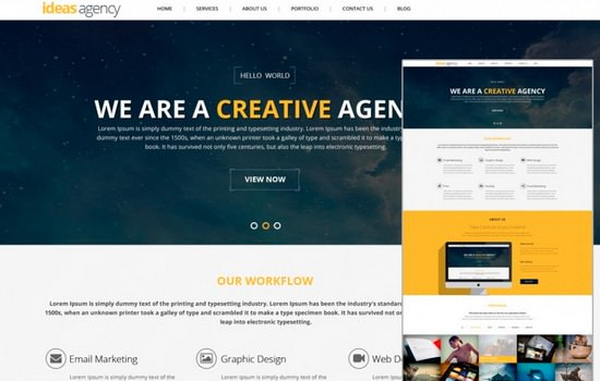 Ideas Agency PSD template