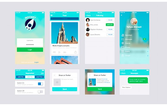 Rocket App UI kit