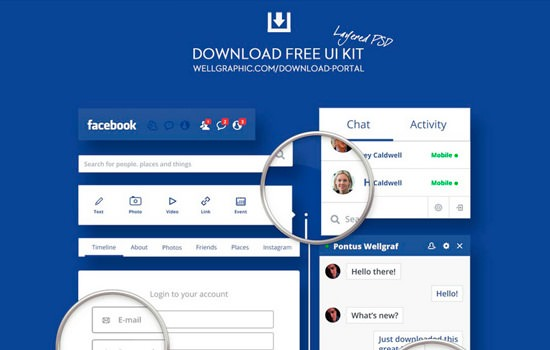 Facebook Redesign UI kit