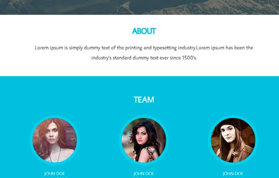 Mission HTML template
