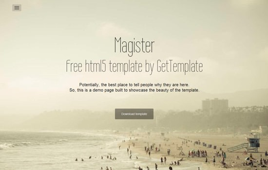 Magister HTML5 template