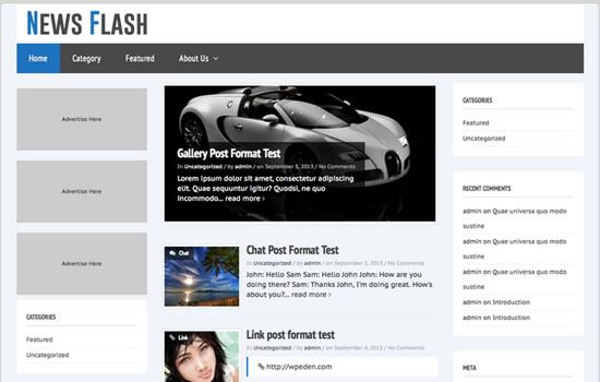 News Flash WP theme