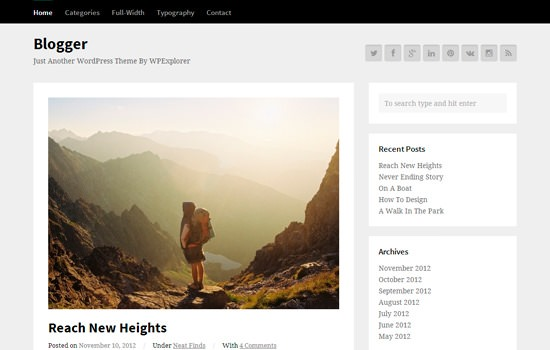 Blogger WP theme