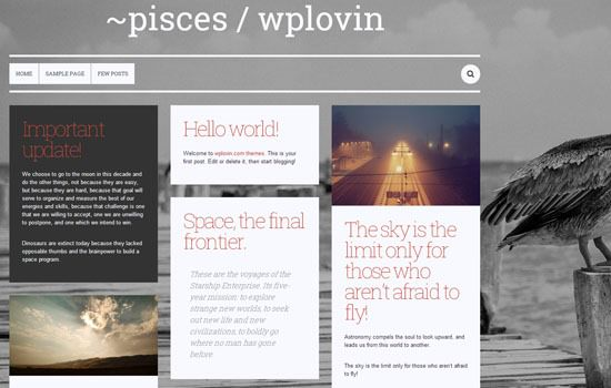 Pisces WP theme