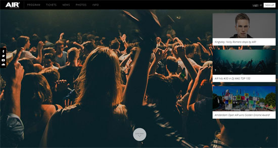 Air Nightclub Website