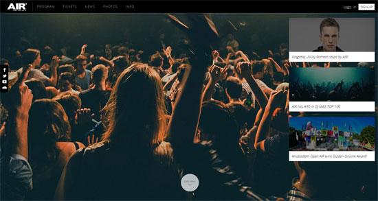 Air Nightclub Website