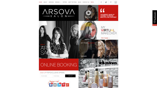 Arsova Salon Site