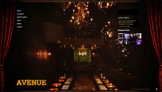 Avenue Nightclub Web Design