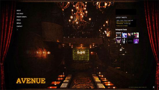 Avenue Nightclub Web Design