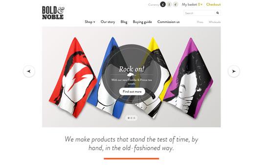 Bold & Noble Gray Web Design