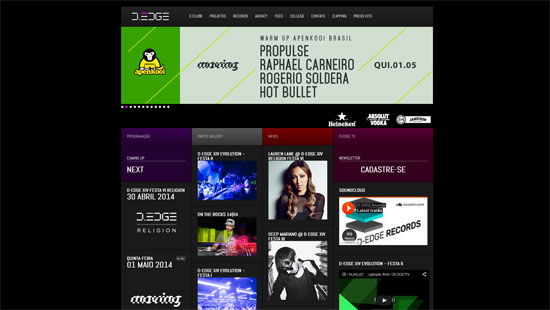 D-Edge Nightclub Website