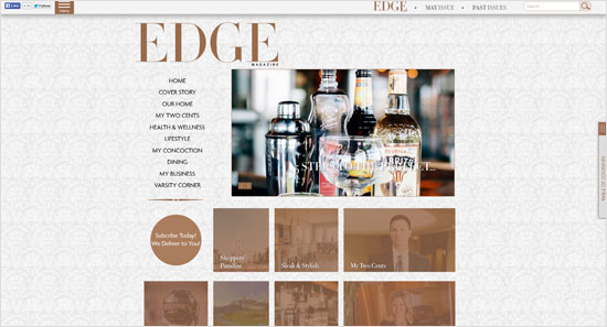 Edge Magazine Gray Design