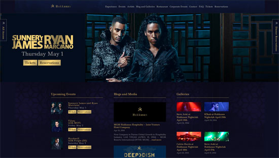 Hakkasan Club Website