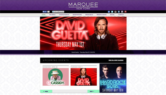 Marquee Website