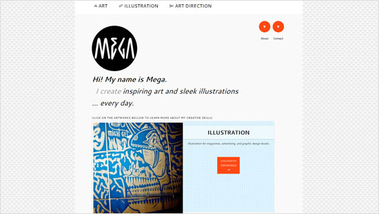 Mega Illustrations Web Design