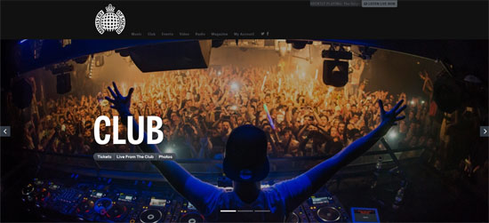 Ministry of Sound Club Website