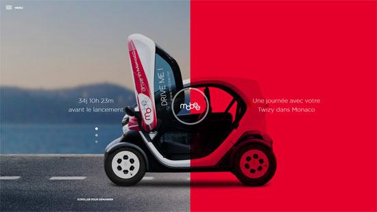 Mobee Website Design in Red