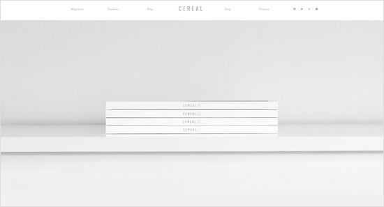 Cereal Magazine Gray Design