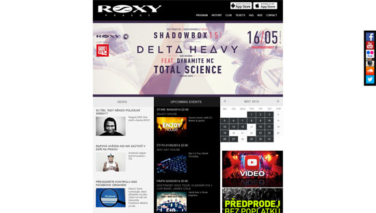 Roxy Nightclub Website