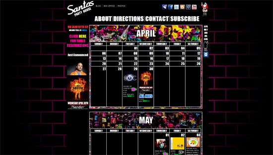 Santos Party Website Design