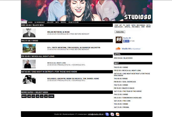 Studio 80 Website