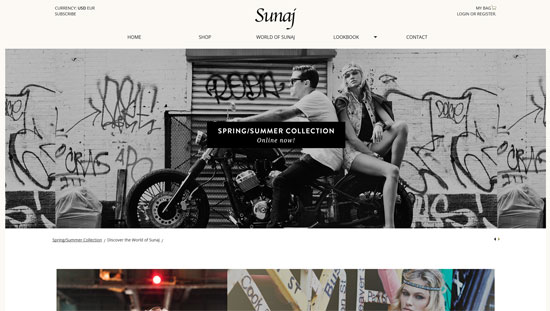 Sunaj Website Design