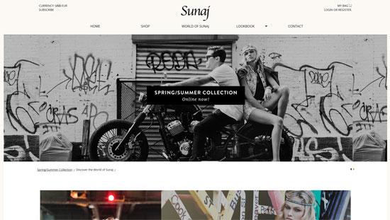 Sunaj Website Design