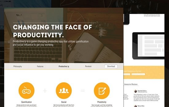 Productive.ly PSD template