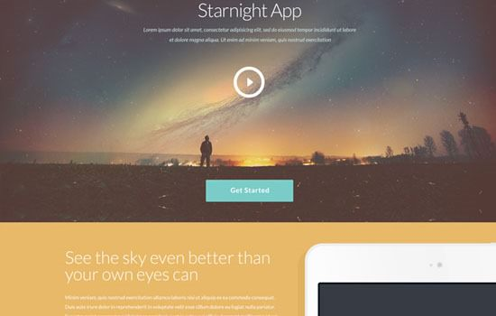 Starnight PSD template