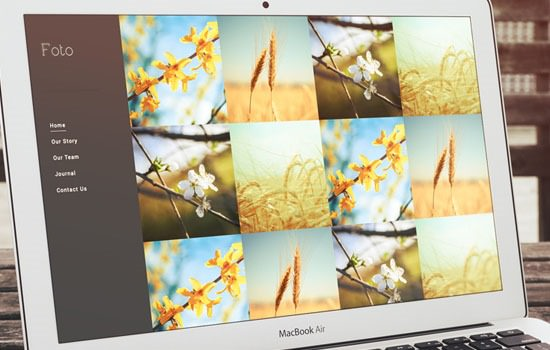 Foto HTML5 template