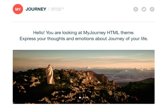 MyJourney PSD template