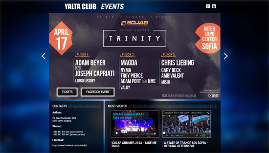 Yalta Club Website