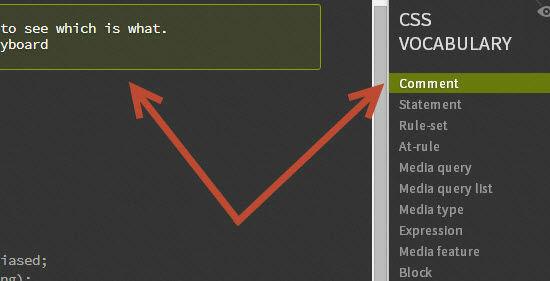 CSS Vocabulary: Sidebar