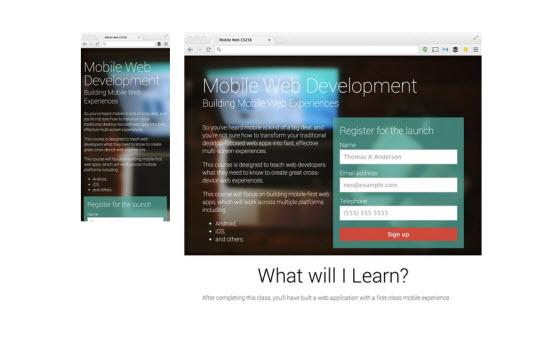 Google Web Fundamentals: Finished Example