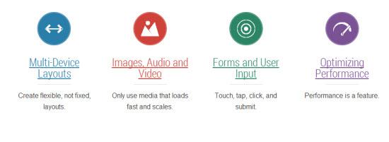Google Web Fundamentals: Topics
