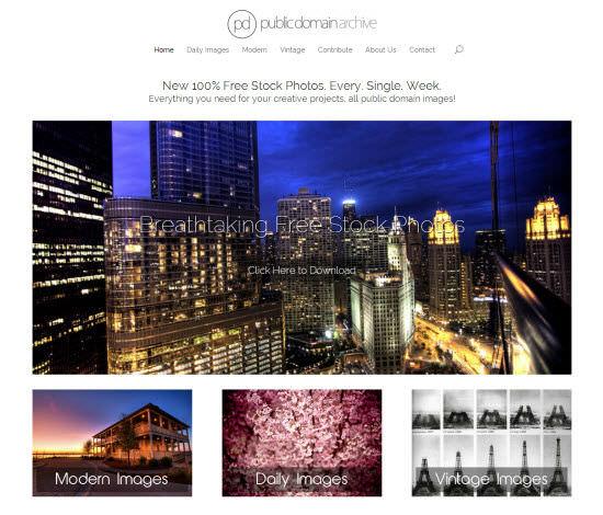 public-domain-archive-landing-page
