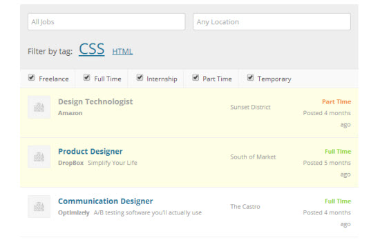 WP Job Manager: Frontend