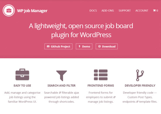 WP Job Manager: Free WordPress Plugin Lets You Build Your Own Job Board
