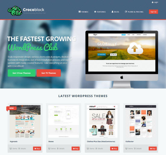 Crocoblock: Landing Page
