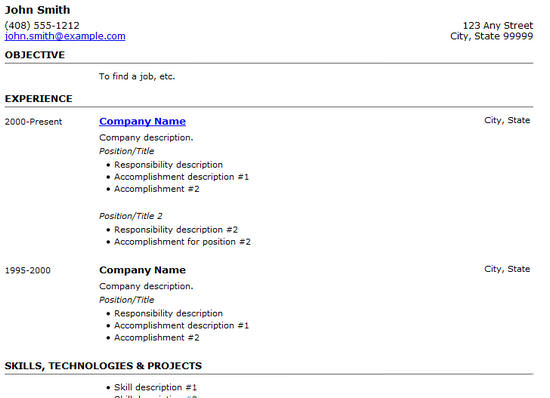 Free Html Resume Templates For Your Successful Online Job