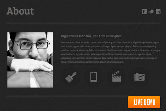 web resume - Resume Web Template