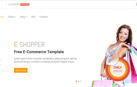 E-shopper HTML template