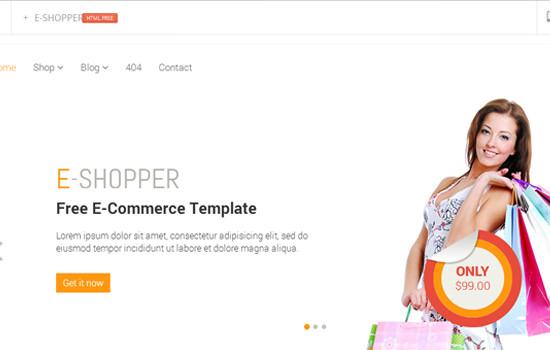 E-shopper HTML template