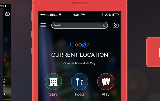 Google app UI