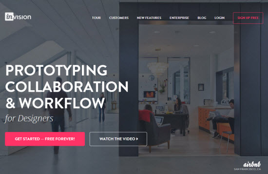 InVision: Landing Page