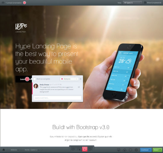 InVision: Comment Directly to the Screen
