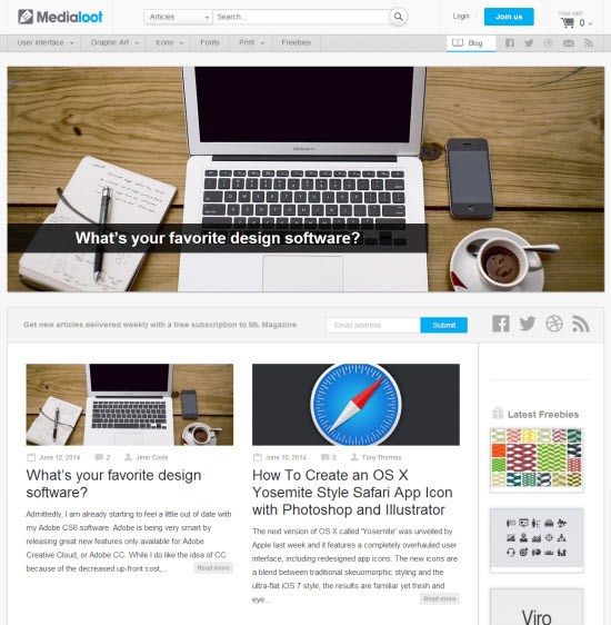 Medialoot's Blog With Valuable Content for Designers