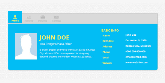 responsive cv website - Online Resume Website
