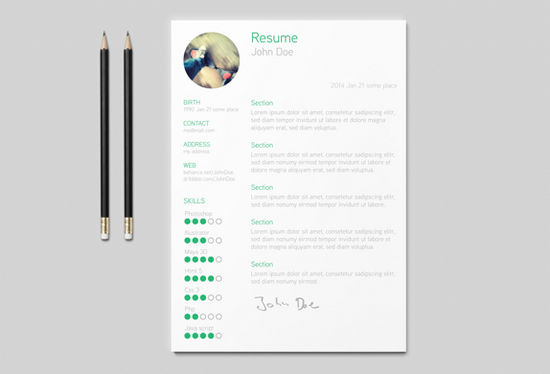 Free Resume Templates To Give You That Career Boost  Noupe