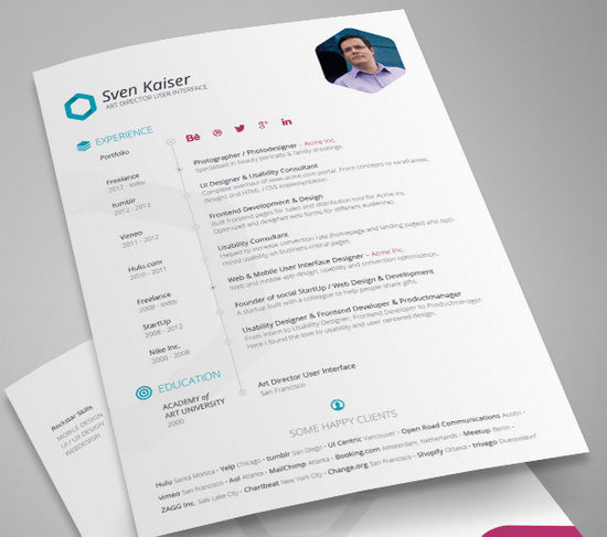26 free resume templates to give you that career boost noupe - Minimalist Resume Template